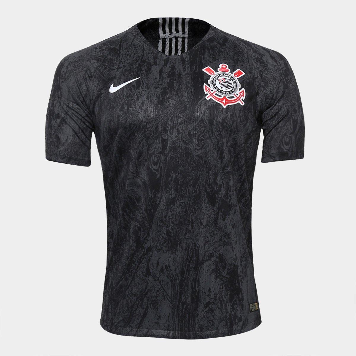 Camisa Corinthians II 2018 - Jogador Nike Masculina - Preto - Compre ... 0910b97891520