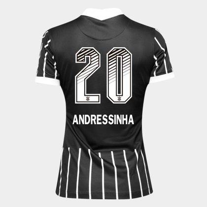 Camisa Corinthians II 20/21 - Andressinha N° 20 - Torcedor Nike Feminina