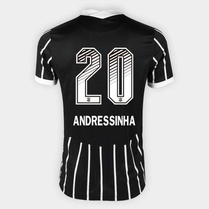 Camisa Corinthians II 20/21 - Andressinha N° 20 - Torcedor Nike Masculina