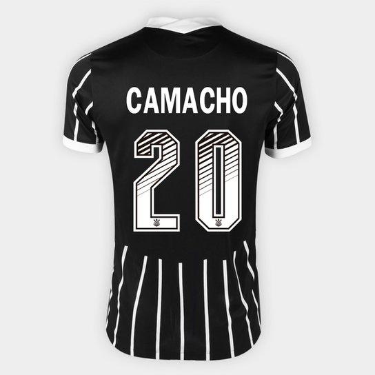 Camisa Corinthians II 20/21 - Camacho Nº 20 - Torcedor Nike Masculina - Preto+Branco