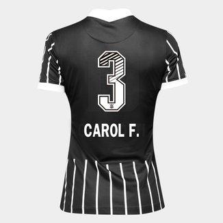 Camisa Corinthians II 20/21 - Carol F. N° 3 Torcedor Nike Feminina