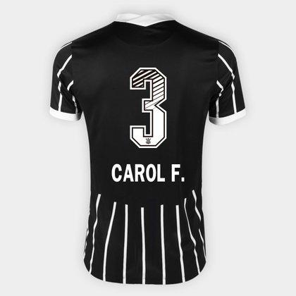Camisa Corinthians II 20/21 - Carol F. N° 3 Torcedor Nike Masculina