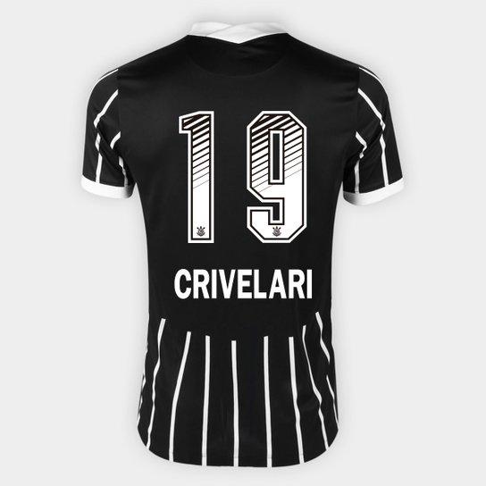 Camisa Corinthians II 20/21 - Crivelari N° 19 - Torcedor Nike Masculina - Preto+Branco
