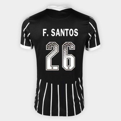 Camisa Corinthians II 20/21 F. Santos  Nº 26  Torcedor Nike Masculina