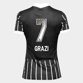 Camisa Corinthians II 20/21 - Grazi N° 7 - Torcedor Nike Feminina
