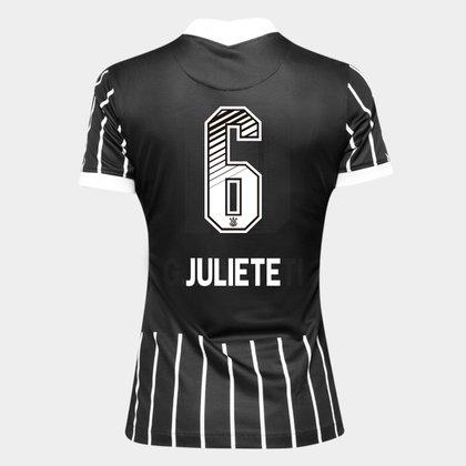 Camisa Corinthians II 20/21 - Juliete N° 6 - Torcedor Nike Feminina
