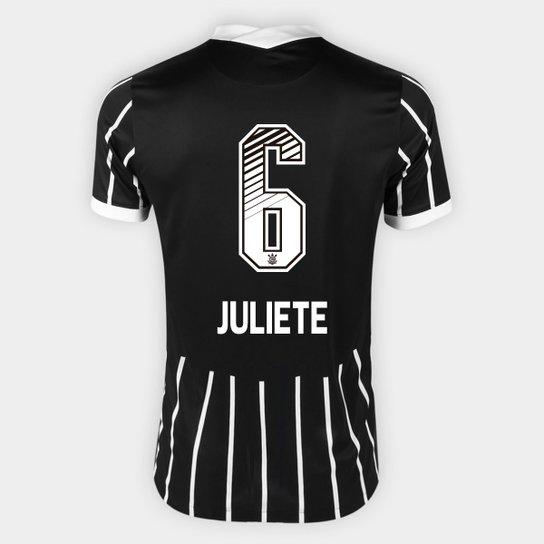 Camisa Corinthians II 20/21 - Juliete N° 6 - Torcedor Nike Masculina - Preto+Branco
