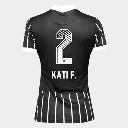 Camisa Corinthians II 20/21 - Kati F. N° 2 - Torcedor Nike Feminina
