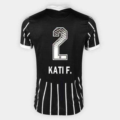 Camisa Corinthians II 20/21 - Kati F. N° 2 - Torcedor Nike Masculina