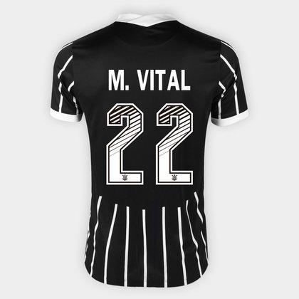 Camisa Corinthians II 20/21 - M. Vital Nº 22 - Torcedor Nike Masculina