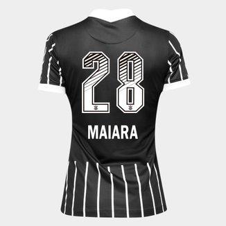 Camisa Corinthians II 20/21 - Maiara N° 28 - Torcedor Nike Feminina
