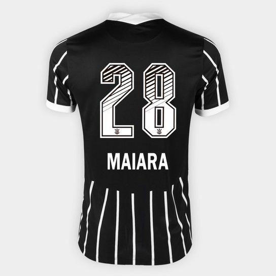 Camisa Corinthians II 20/21 - Maiara N° 28 - Torcedor Nike Masculina - Preto+Branco