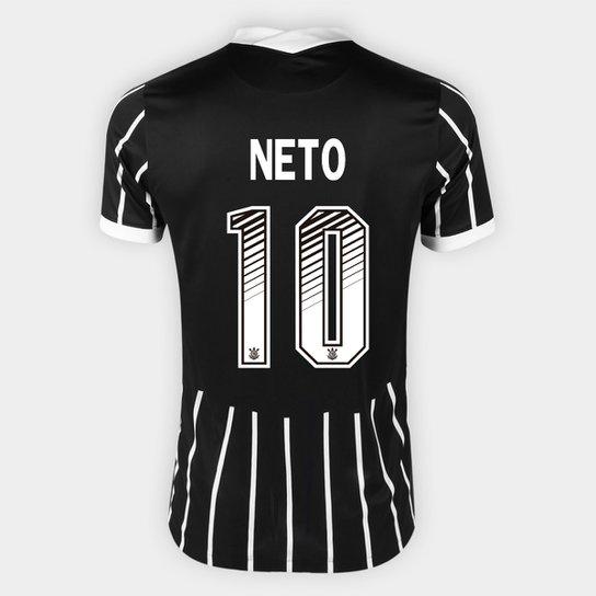 Camisa Corinthians II 20/21 - Neto Nº 10 - Torcedor Nike Masculina - Preto+Branco