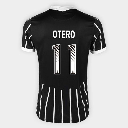 Camisa Corinthians II 20/21 Otero Nº 11 Torcedor Nike Masculina - Preto+Branco