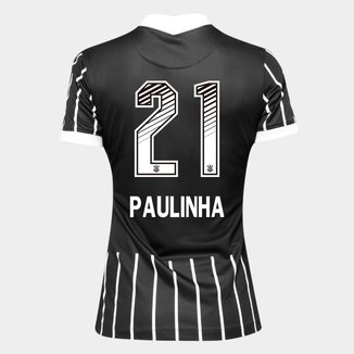 Camisa Corinthians II 20/21 - Paulinha N° 21 - Torcedor Nike Feminina