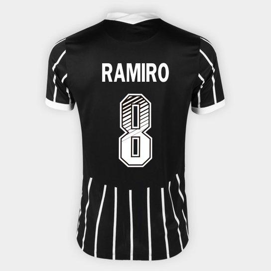 Camisa Corinthians II 20/21 - Ramiro Nº 8 - Torcedor Nike Masculina - Preto+Branco