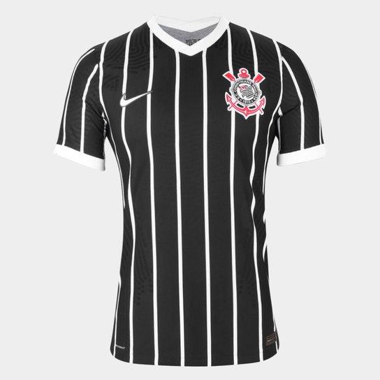 Camisa Corinthians II 20/21 s/n° Jogador Nike Masculina - Preto+Branco