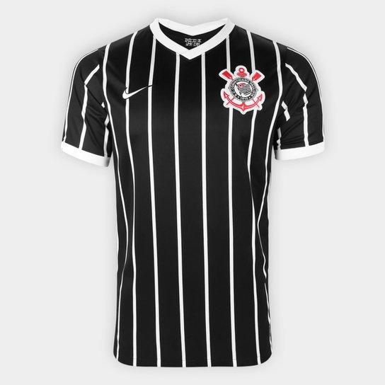 Camisa Corinthians II 20/21 s/n° Torcedor Nike Masculina - Preto+Branco
