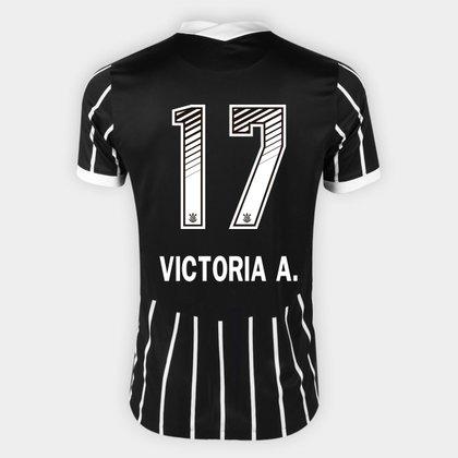 Camisa Corinthians II 20/21 - Victoria A. N° 17 - Torcedor Nike Masculina