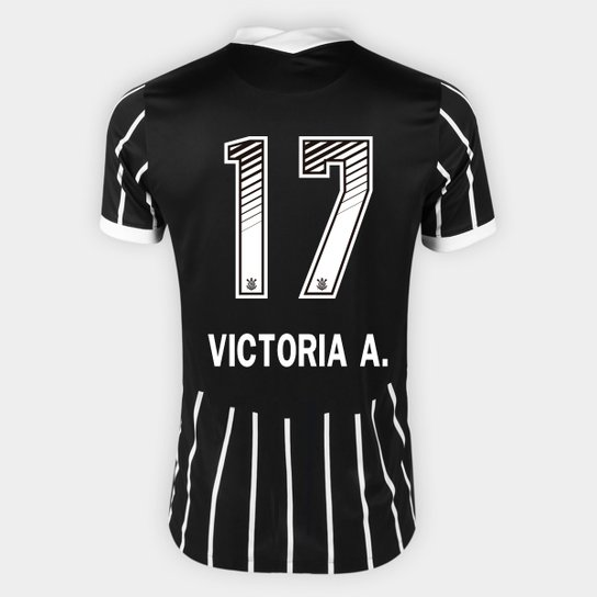 Camisa Corinthians II 20/21 - Victoria A. N° 17 - Torcedor Nike Masculina - Preto+Branco