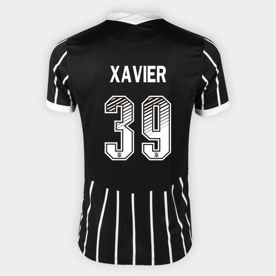 Camisa Corinthians II 20/21 Xavier  Nº 39 Torcedor Nike Masculina - Preto+Branco