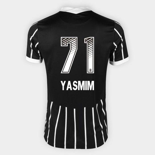 Camisa Corinthians II 20/21 Yasmim N° 71 Torcedor Nike Masculina - Preto+Branco