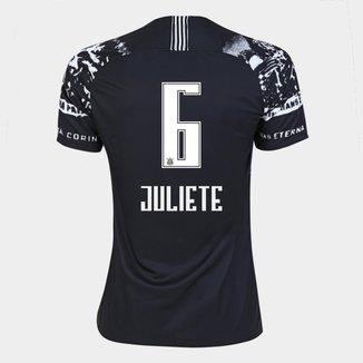 Camisa Corinthians III 19/20 - Juliete N° 6 - Torcedor Nike Feminina