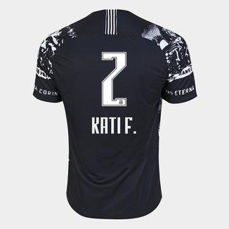 Camisa Corinthians III 19/20 - Kati F. N° 2 - Torcedor Nike Masculina