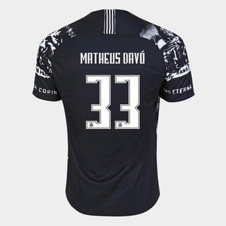 Camisa Corinthians III 19/20 - Matheus Davó Nº 33 - Torcedor Nike Masculina