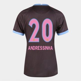 Camisa Corinthians III 20/21  Andressinha N° 20  Torcedor Nike Feminina