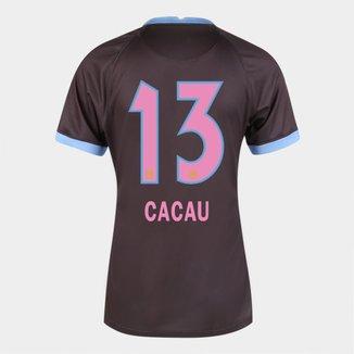 Camisa Corinthians III 20/21  Cacau N° 13  Torcedor Nike Feminina