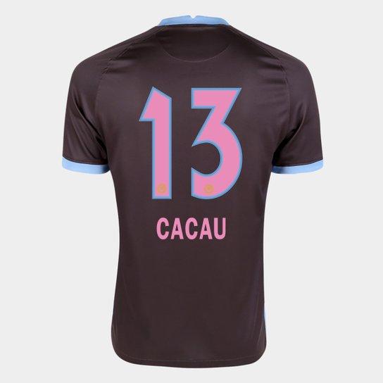 Camisa Corinthians III 20/21 Cacau N° 13 Torcedor Nike Masculina - Marrom+Azul