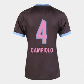 Camisa Corinthians III 20/21  Campiolo N° 4 Torcedor Nike Feminina