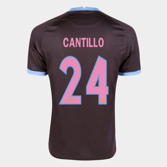 Camisa Corinthians III 20/21  Cantillo Nº 24 Torcedor Nike Masculina - Marrom+Azul