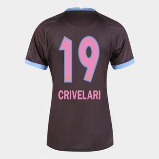 Camisa Corinthians III 20/21  Crivelari N° 19 Torcedor Nike Feminina