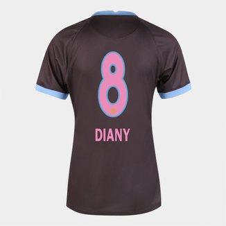 Camisa Corinthians III 20/21  Diany N° 8  Torcedor Nike Feminina