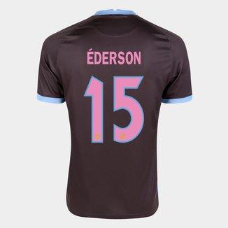 Camisa Corinthians III 20/21 Éderson Nº 15 Torcedor Nike Masculina