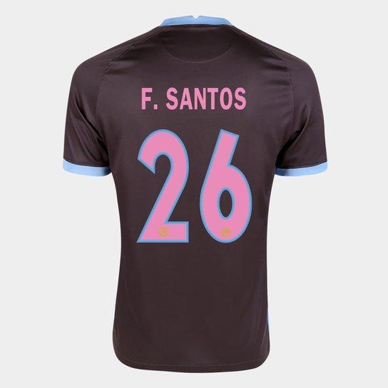 Camisa Corinthians III 20/21 F. Santos Nº  26  Torcedor Nike Masculina - Marrom+Azul