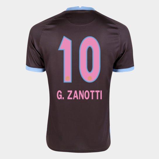 Camisa Corinthians III 20/21 G. Zanotti N° 10 Torcedor Nike Masculina - Marrom+Azul