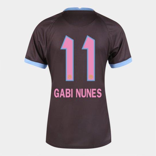 Camisa Corinthians III 20/21  Gabi Nunes N° 11 Torcedor Nike Feminina - Marrom+Azul