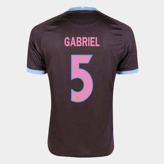 Camisa Corinthians III 20/21 Gabriel Nº 5 Torcedor Nike Masculina - Marrom+Azul