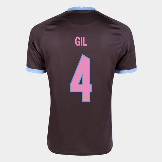 Camisa Corinthians III 20/21 Gil Nº  4  Torcedor Nike Masculina - Marrom+Azul