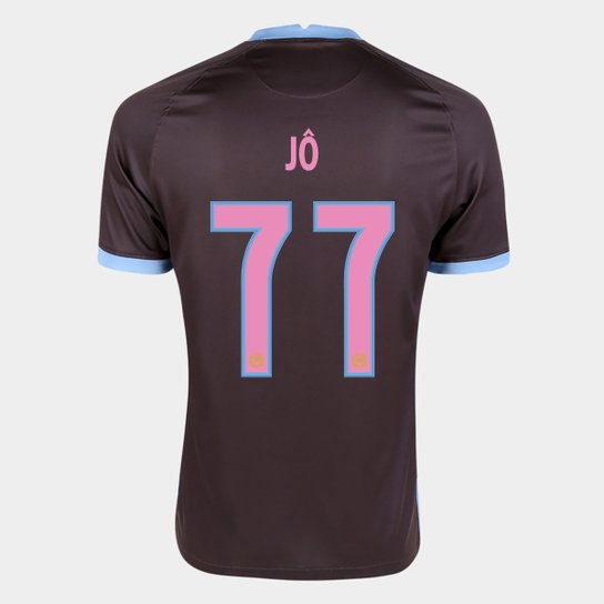 Camisa Corinthians III 20/21 Jô  Nº  77  Torcedor Nike Masculina - Marrom+Azul
