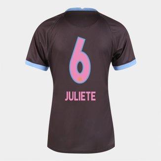 Camisa Corinthians III 20/21  Juliete N° 6  Torcedor Nike Feminina