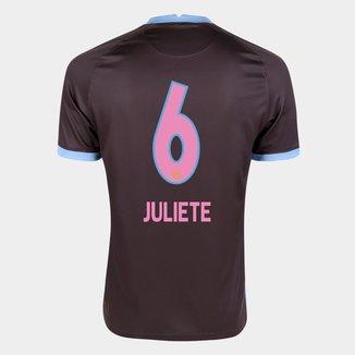 Camisa Corinthians III 20/21 Juliete N° 6 Torcedor Nike Masculina