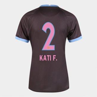 Camisa Corinthians III 20/21  Kati F.  N° 2  Torcedor Nike Feminina