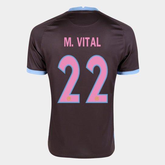 Camisa Corinthians III 20/21 M. Vital Nº  22  Torcedor Nike Masculina - Marrom+Azul