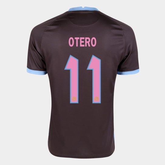 Camisa Corinthians III 20/21 Otero Nº 11 Torcedor Nike Masculina - Marrom+Azul