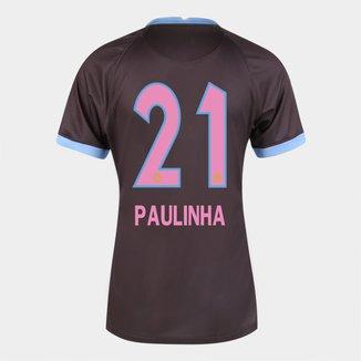 Camisa Corinthians III 20/21  Paulinha N° 21 Torcedor Nike Feminina