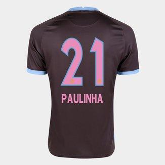 Camisa Corinthians III 20/21 Paulinha N° 21  Torcedor Nike Masculina